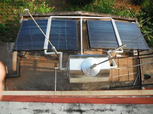 Die Solaranlage auf dem Mädchenheim Anugraha