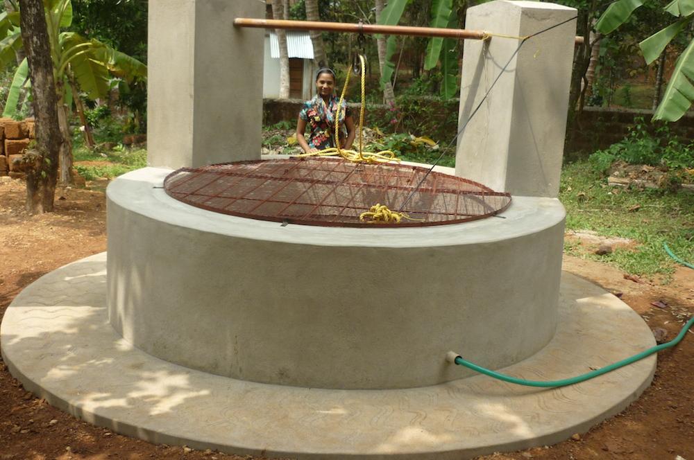 Der neue Brunnen in Anugraha