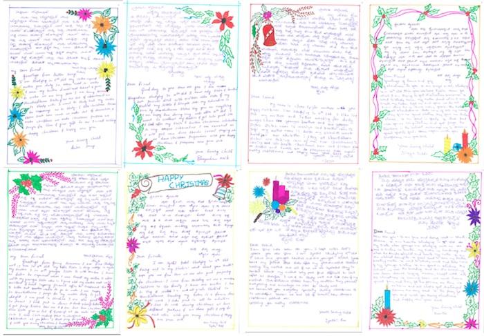 Weihnachtsbriefe der Mädchen aus Indien