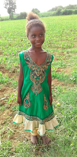 Eines der neuen Mädchen in Shanti Dhama - Bildung für indische Mädchen