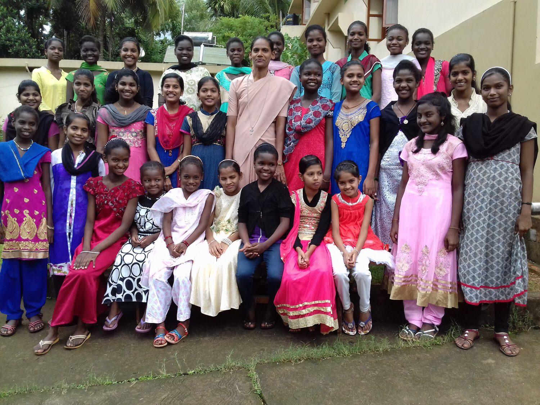 Mädchen in Anugraha, Oktober 2017
