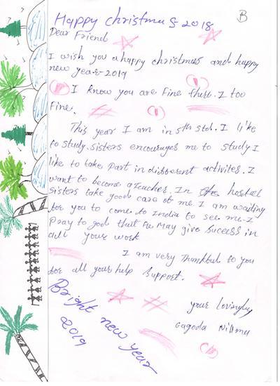 Weihnachtsbriefe aus Indien