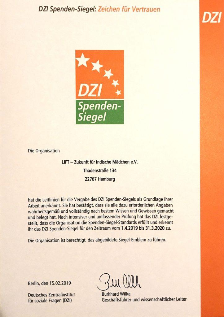 Das DZI Spenden-Siegel muss jährlich erneuert werden