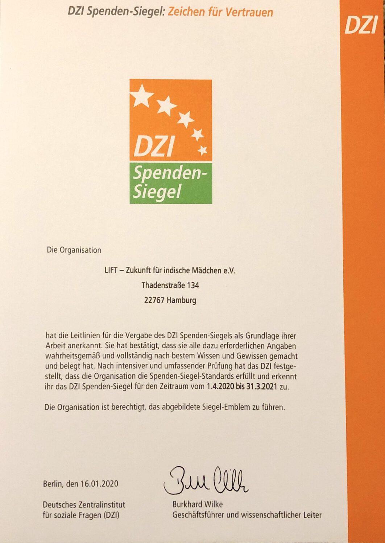 DZI Spenden-Siegel erneuert