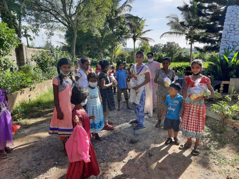 Corona Hilfe in Shanti Dhama
